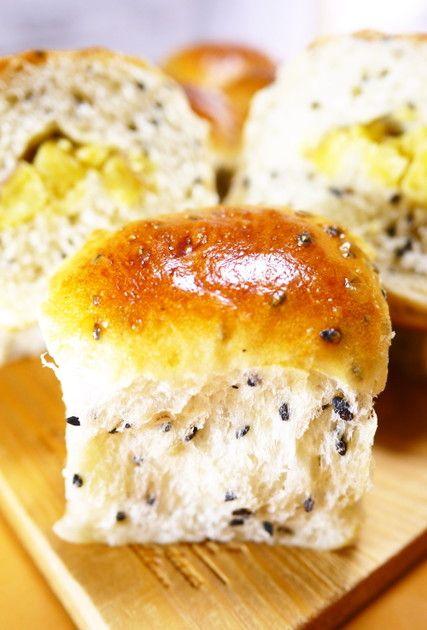 卵と牛乳♪黒ごまさつまいも★ちぎりパン by ほっこり~の [クックパッド] 簡単おいしいみんなのレシピが228万品