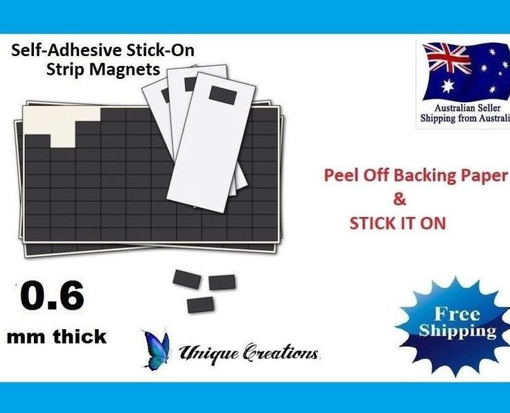 Stick On Magnets Self Adhesive 40x20mm Magnetic Strips Invitation Fridge