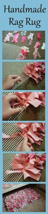 Very simple DIY rug, but takes some time to make...