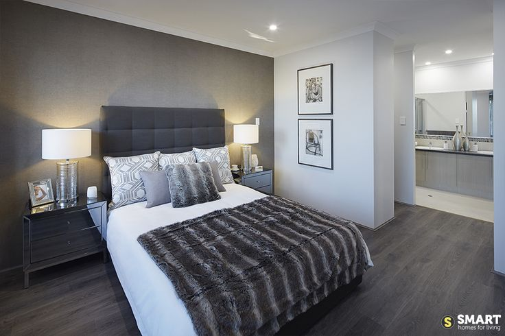 The stylish master suite with double ensuite and walk in robe.
