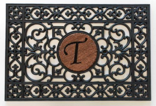 """24""""x36"""" Monogrammed Insert Doormat (Letter T Only) by Momentum Mats. $34.99. Makes a Great Gift - Free Gift Enclosure. Reassuring, non-slip rubber that won't crack or buckle. Hoses clean. In Stock-Ships in 1-2 days. Resists fading, mold and mildew. Momentum Mats has been a trusted manufacturer for 29 years and takes great pride in the fact that we use only 100% natural rubber in our doormats.  Additionally, our manufacturing facilities have the most advanced and cost effective m..."""