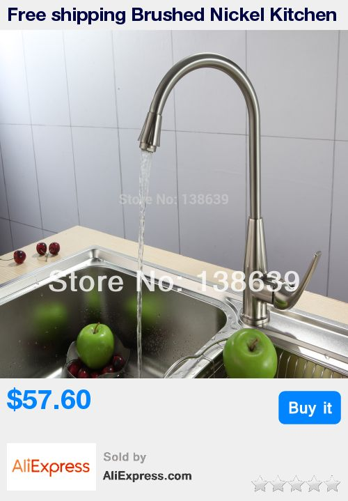 Free shipping Brushed Nickel Kitchen Faucets Bathroom Basin Mixer Tap Swivel Brass Faucet,tall basin mixer faucet taps * Pub Date: 16:29 Oct 23 2017