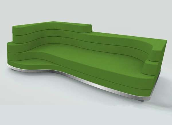 The Contour Sofau0027s Shape Is Carved By Stacked Cushions #design Nice Ideas