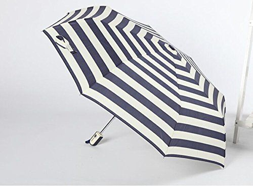 sufely® Paraguas automático transparente Noble & Creative Azul Marino Rayas paraguas de paraguas y lápiz, azul - http://comprarparaguas.com/baratos/de-colores/azul/sufely-paraguas-automatico-transparente-noble-creative-azul-marino-rayas-paraguas-de-paraguas-y-lapiz-azul/