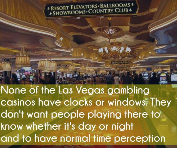 No clocks in las vegas gambling casinos casino in indiana