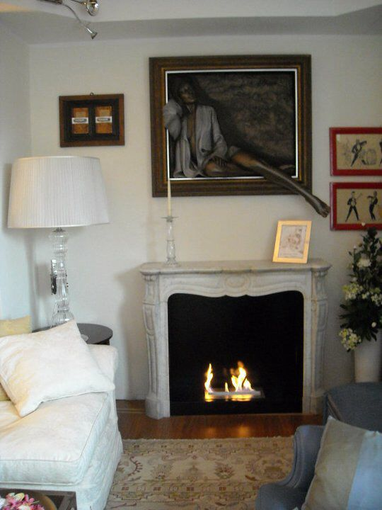 Cornice di camino antico Luigi XV con bruciatore incassato WI-FIRE a bioetanolo- Da Il Fuoco Che Arreda