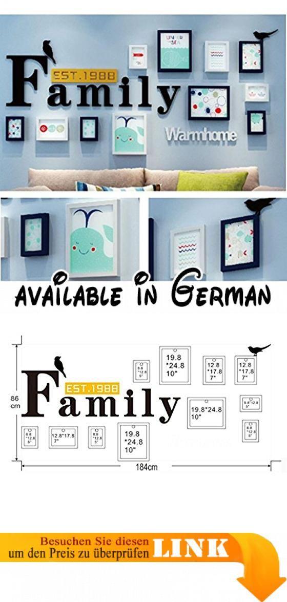 Wandmontage Design Moderne Home Holz Bilderrahmen Sets Von 11