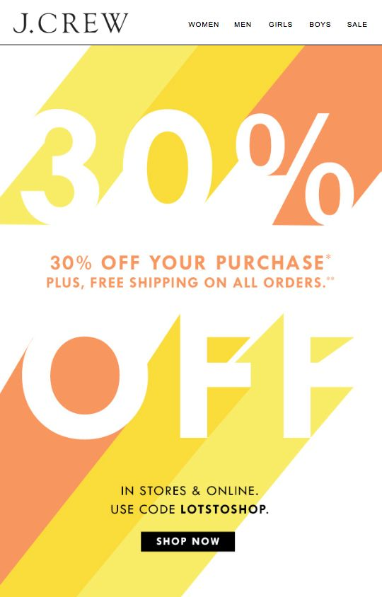 J.Crew - 30% Off your purchase