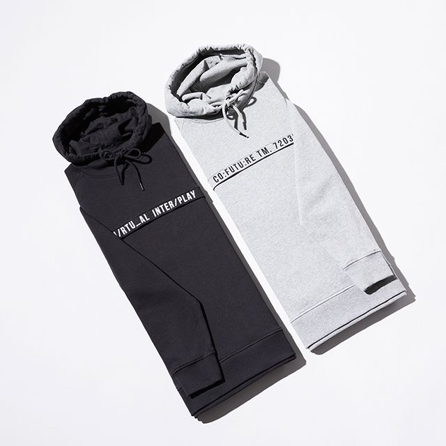 Grey or Black? A hoodie with graphical elements for an urban look   JACK & JONES