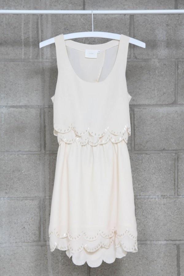 sequins scallop dress