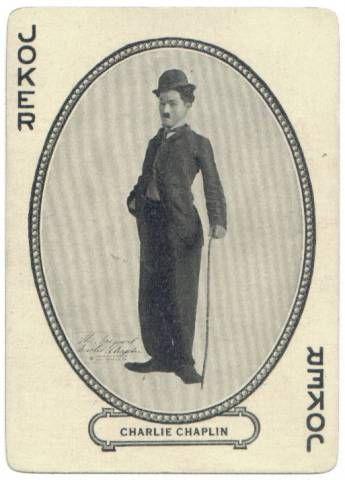 Pc057 - Joker Charlie Chaplin as Charlot / Vintage Playcard