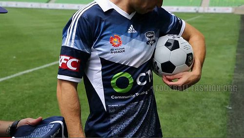 Melbourne Victory Football Club 2014 2015 adidas 10th Anniversary Soccer Jersey, Football Kit, Shirt