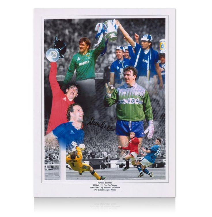 Neville Southall signed Everton print