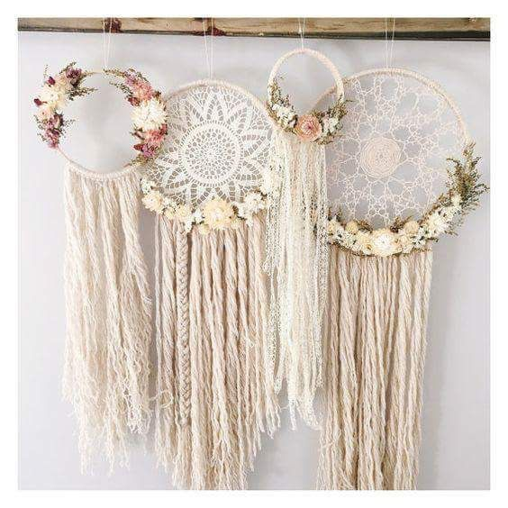 Adorable dream catcher decorations Boho, shabby chic                                                                                                                                                                                 More