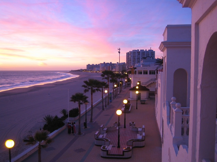 Rota, Spain... Beautiful.  I used to live RIGHT THERE on that street, ON the beach.  Loved it!