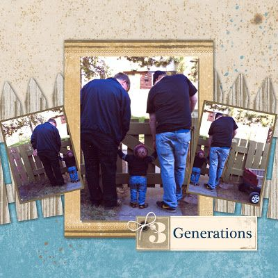 Three Generations for an #MDSMonday challenge - created the fence in the background using punches.  #stampinup #MDS #Mydigitalstudio