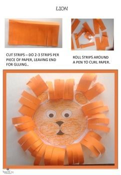 Lion Craft: This activity forms part of our animal craft found on our store @ http://www.teacherspayteachers.com/Product/Animal-Craft-1533508