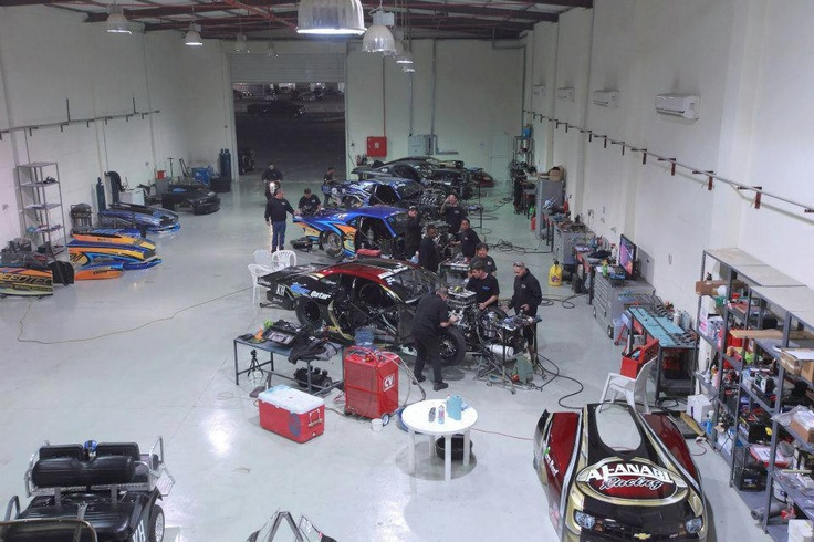 Now this is what you call a race shop!