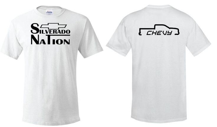 Silverado Nation Tee, Chevy Truck, Bow-tie, Hartland #Hanes #PersonalizedTee