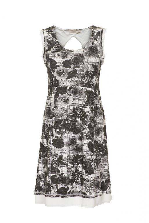 Cream Rosa dress Pitch Black - Kjoler/nederdele - MaMilla