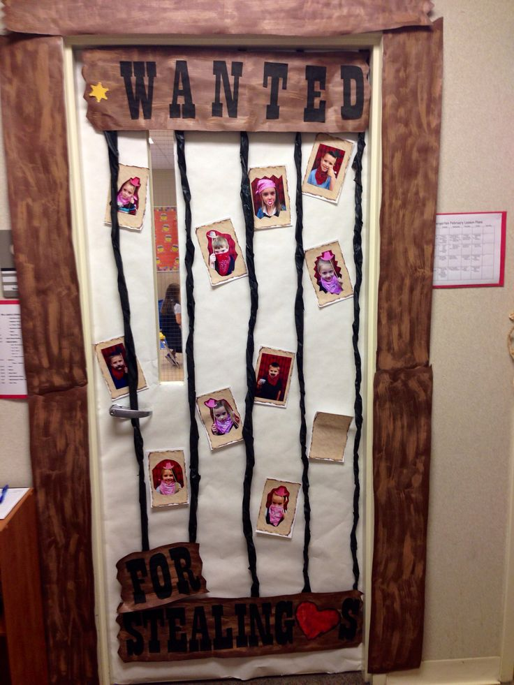 Western classroom door...this would be so cute for positive rewards!!!