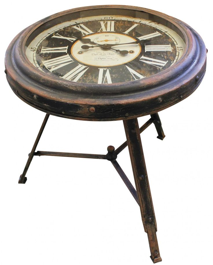 Add a touch of whimsy to a provincial or Loft style decor with our eye catching Clock Side Table. Let it take centre stage, pairing with vintage leather seating and reclaimed timber furniture. Timeless!!!!