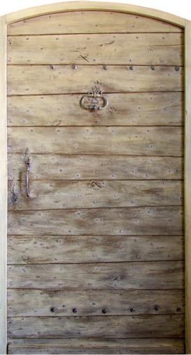 Porte à lames doublées Patine peinture. Portes d'entree .