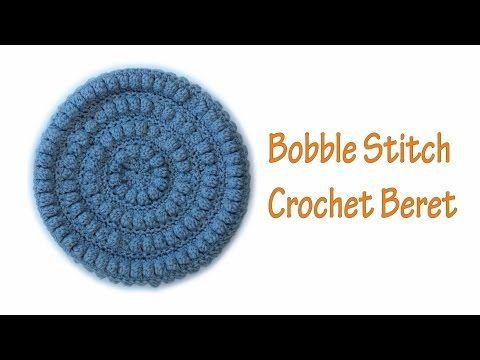 Crochet beret pattern wwwika crochet #crochet  #crochet_beret Boble stitch - YouTube, Crochet hat pattern, crochet hat, Crochet hats free pattern, crochet pattern, crochet hat pattern free