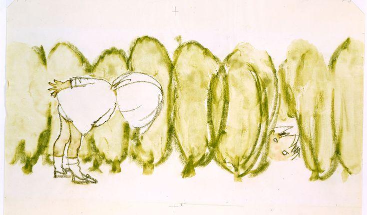 """Chihiro Iwasaki """"Children Peeping through Hedge"""" (1970)"""