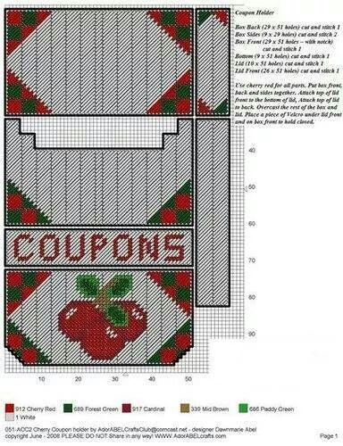 CHERRY COUPON HOLDER by DAWNMARIE ABEL