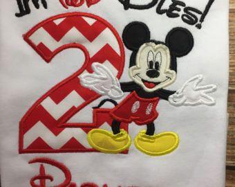 Camisa de niños twodles personalizados cumpleaños mickey mouse