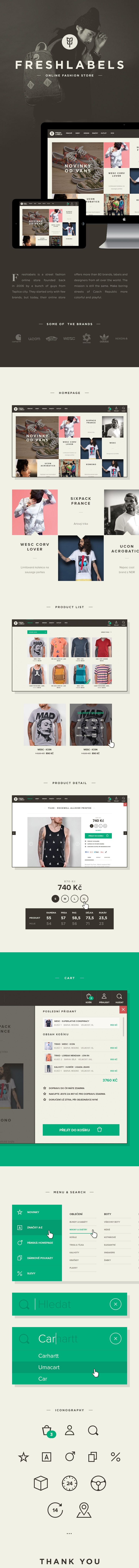 // website for freshlabels online fashion store. //