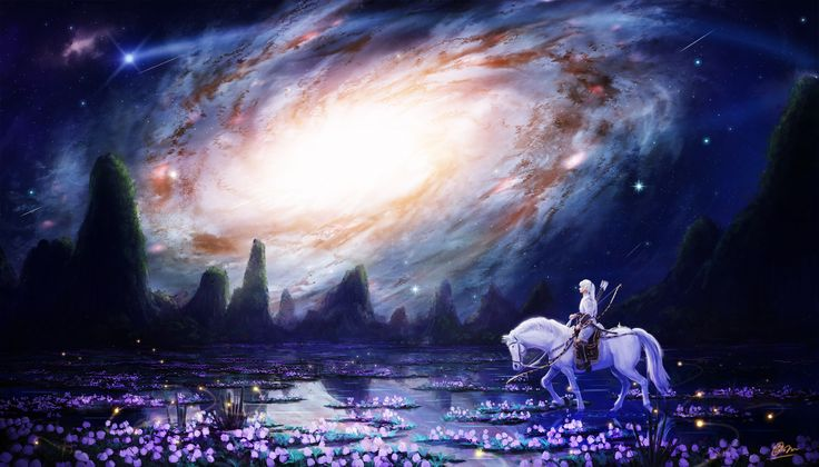 ◯星海の水鏡 中原最南端アルタイ山脈を越えた果てに広がる大湿原。閑静な山々に抱かれた水面には、鏡のように銀河が映る。  2015 季刊S様(10月号)にて入選