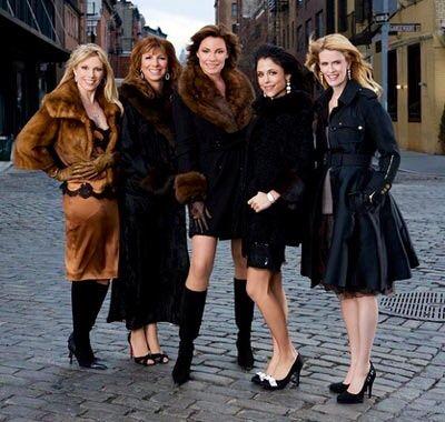 Season 1 Cast With Ramona Singer Jill Zarin Luann De