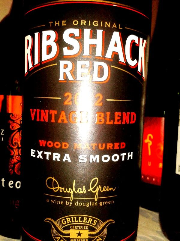 Rib Shack Red 2012, Douglas Green. Blind tasting at Intro to wine course with Penny Lancaster. Durban, South Africa.