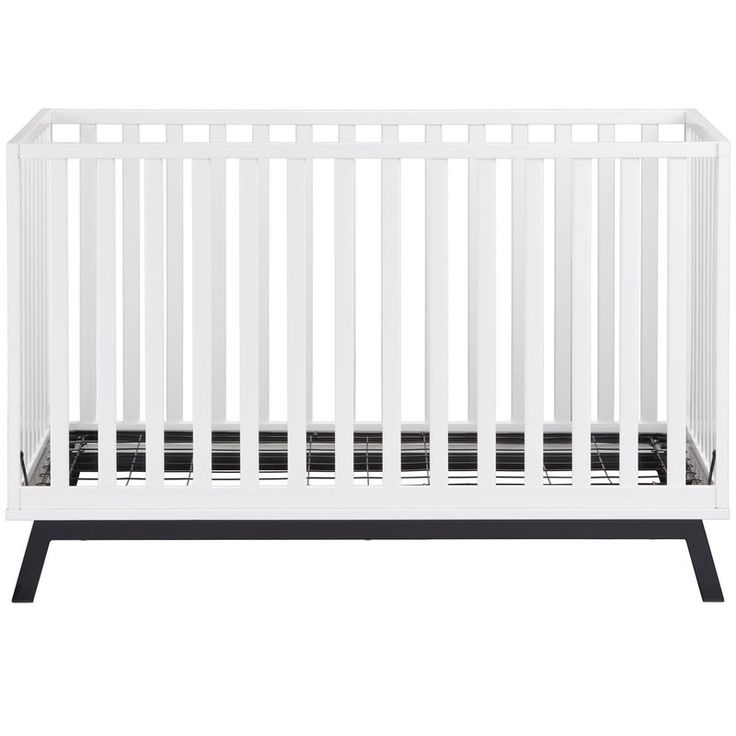 Two-tone contemporary crib made of solid wood and flexible plywood slats for durability. Powder-coated steel base with angled feet for maximum stability and style. Wood portions are painted soft white using a non-toxic finish that is child-tested. The mattress base is height-adjustable to keep babies safe and easy to reach as they grow. Like all Little Seeds products, this purchase helps support a major environmental initiative. Discover how this can help you and your child involve your…