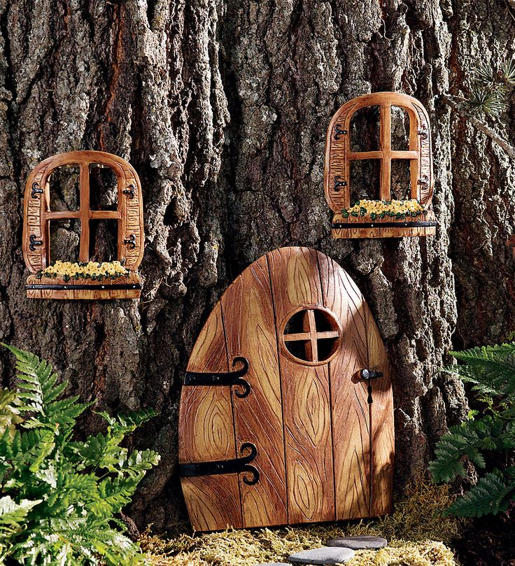 Fairy door and windows at hearth and plow they are on the for Fairy house doors