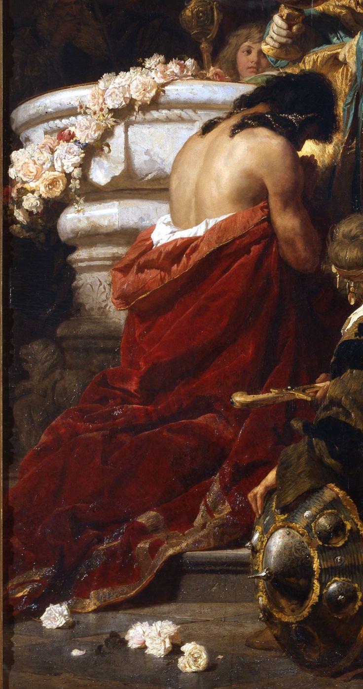 Benczúr Gyula: Vajk megkeresztelése, részlet, 1875, olaj, vászon, 358 x 247 cm