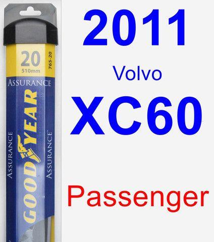 Passenger Wiper Blade for 2011 Volvo XC60 - Assurance