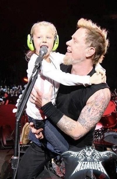 James Hetfield and his daughter :)                                                                                                                                                      More