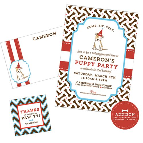 127 best images about Puppy Party Ideas – Puppy Party Invitation