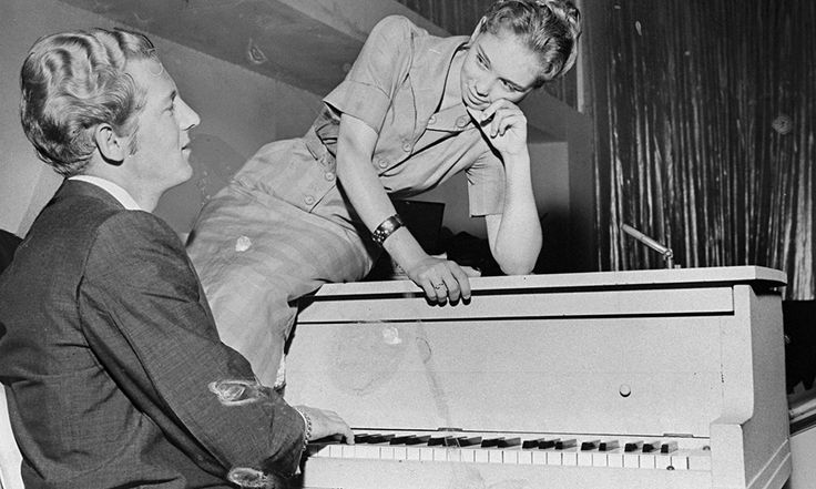 Jerry Lee Lewis with his wife and cousin 1958.