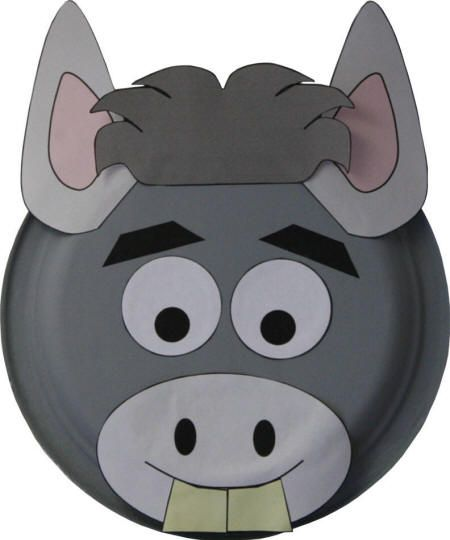 paper plate donkey craft httpwwwdltk kidscom - Dklt Crafts