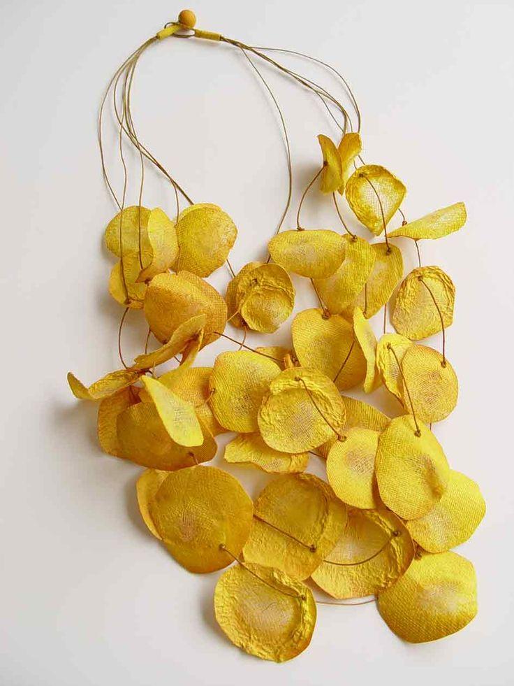 Yellow Rose Petal Necklace - delicate jewellery design // Ana Hagopian