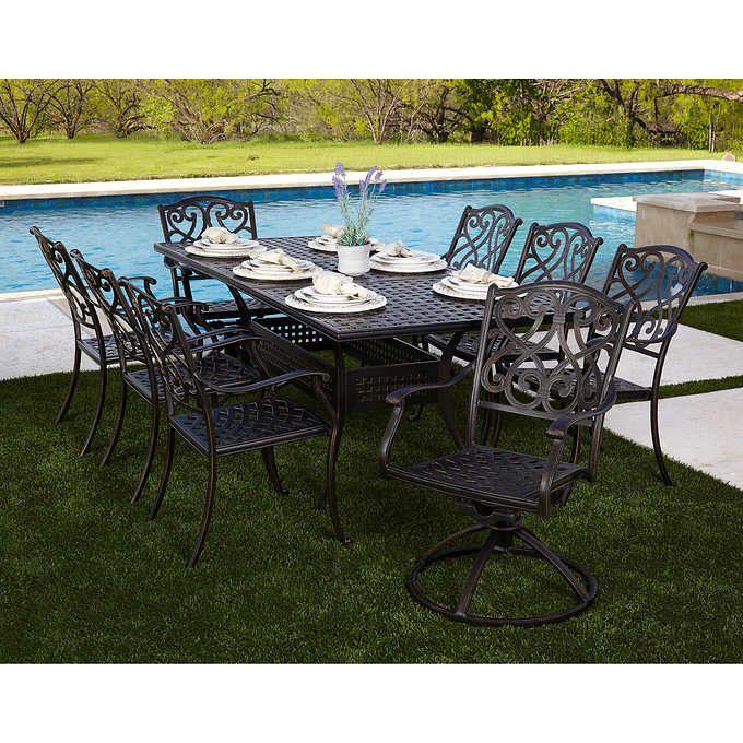 Oasis 9 Piece Dining Set Dining Set Outdoor Furniture Sets