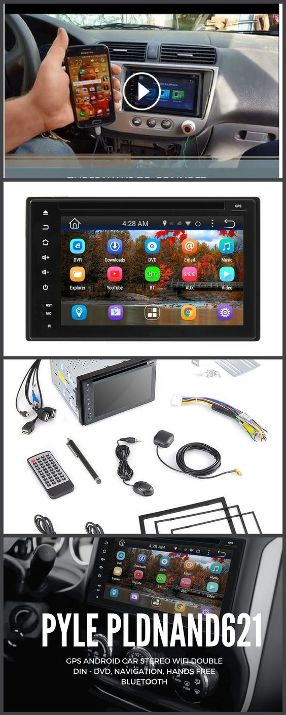 """Unlock Tablet-Style functionality for your vehicle with the Pyle Android Stereo Receiver. The 6"""" Touchscreen Display Head unit comes jam-packed with entertainment and safety features like Wi-Fi Connectivity, Bluetooth Wireless Music Streaming, Hands-Free Call Answering, GPS Navigation, HD 1080p Multimedia Support, Web Surfing, App Downloads and plenty more! These awesome features come loaded in the universal standard size double DIN receiver which makes for an intense vehicle entertainment…"""