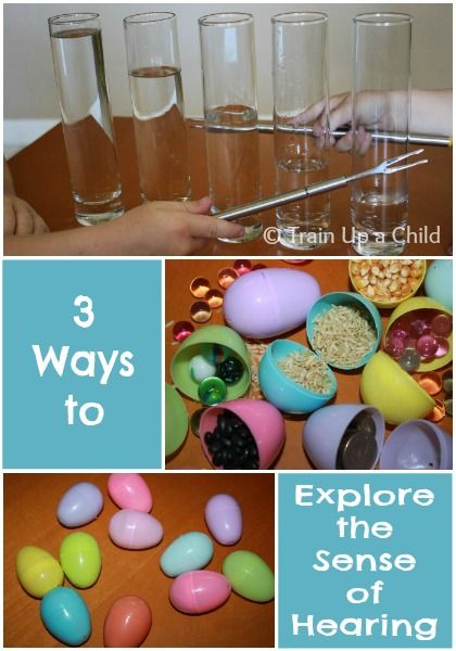 3 Ways to Explore the Sense of Hearing - fun games and activities for children of all ages.