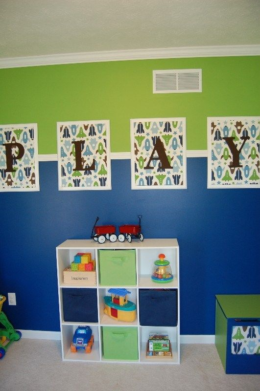 Playroom wall hanging idea...different fabric                                                                                                                                                      More