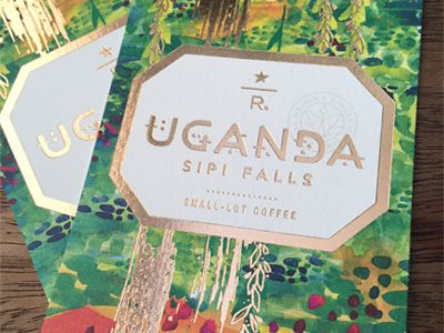 Type & Design for a Starbucks Reserve coffee label. © 2015 Starbucks Corporation