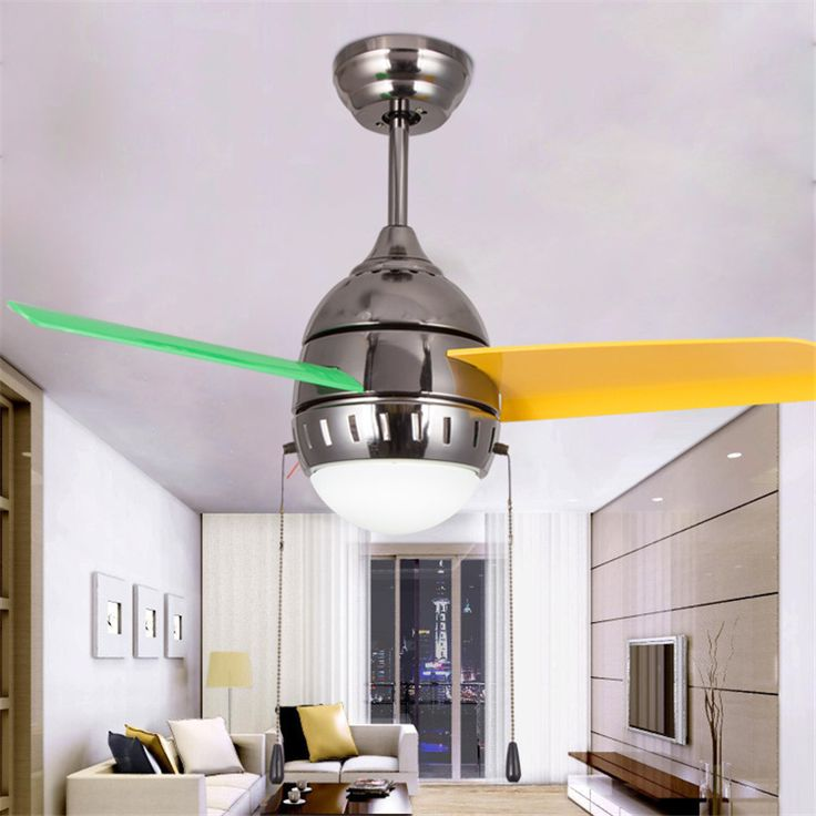 36 Inch Modern Quiet Ceiling Fan Kids Room Ceiling Fans With Lights  Mini fan lamp Children Bedroom ceiling light Fan Lamp